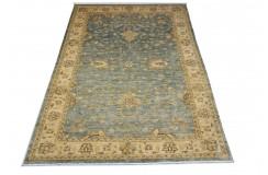 Dywan Ziegler 100% wełna kamienowana orientalny ok 200x300cm szaro-niebieski