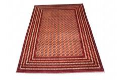 Dywan Afganistan Bashiri Turkmeński geometryczny tekke oryginalny 100% wełniany najwyższa jakość 200x300cm