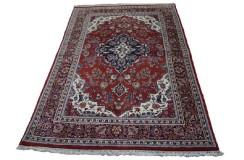 Kwiatowy bardzo gęsto tkany dywan Keszan z Iranu 100% wełna jakość perski wzór z medalionem