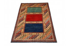 Dywan Kazak Royal gęsto tkany piękny 100% wełna ręcznie tkany z Pakistanu ekskluzywny 200x250cm geometryczny