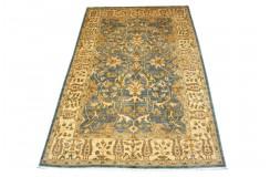 Dywan Ziegler 100% wełna kamienowana orientalny ok 2x3m niebieski