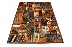 Dywan Afganistan modern abstrakcyjny oryginalny 100% wełniany ręcznie tkany 220x305cm