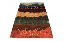 Dywan Ziegler Arijana Shaal 100% wełna kamienowana ręcznie tkany luksusowy 200x300cm kolorowy w pasy
