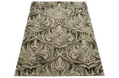 Czarno złoty designerski nowoczesny dywan wełniany 200x300cm Indie 2cm gruby