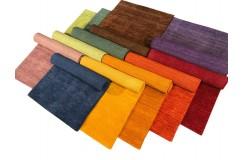 Gładki 100% wełniany dywan Gabbeh Handloom zielony 120x180cm bez wzorów