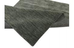 Gładki 100% wełniany dywan Gabbeh Handloom szary 160x230cm bez wzorów