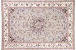 Królewski gęsto tkany 1 440 000 pęczków dywan Savin Carpets Paliz pałacowy 250x350 szary made In Iran