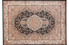 Pałacowy gęsto tkany 1 000 000 pęczków dywan Savin Carpets Pars pałacowy 200x300cm czarny made In Iran