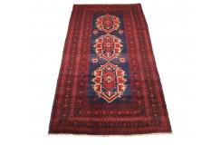 Beludż (Belutsch) - dywan ręcznie tkany z Pakistanu wełna na wełnie 140x300cm antyk ok 1960r.