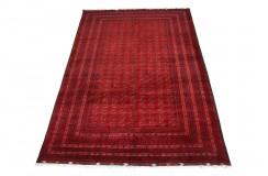 Dywan Afganistan Khuwaje Turkmeński geometryczny Tekke oryginalny 100% wełniany najwyższa jakość 192x293cm