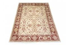 Dwukolorowy jasny oryginalny ręcznie tkany dywan Ziegler Farahan z Pakistanu 100% wełna ok 170x240cm ekskluzywny