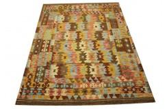 Kaudani rustykalny dywan kilim z Afganistanu 100% wełna VINTAGE 150x200cm piękne połączenie kolorów