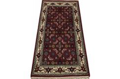 Wełniany ręcznie tkany dywan Herati z Indii 140x200cm orientalny czerwony