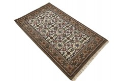 Wełniany ręcznie tkany dywan Herati z Indii 90x160cm orientalny beżowy