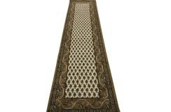 Wełniany ręcznie tkany dywan Mir z Indii 75x270cm orientalny beżowy
