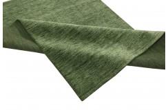 Gładki 100% wełniany dywan Gabbeh Handloom zielony 160x230cm bez wzorów