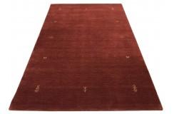 Gładki 100% wełniany dywan Gabbeh Lori Handloom rdzawy 170x240cm etniczne rustykalne wzory