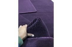 Gładki 100% wełniany dywan Gabbeh Lori Premium Handloom fioletowy 170x240cm tłoczenia w pasy