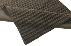 Gładki 100% wełniany dywan Gabbeh Lori Premium Handloom szary 160x230cm tłoczenia w pasy
