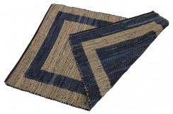 Dwustronny płasko tkany dywan kilim brązowo niebieski dywan Hindi 90x160cm