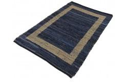 Dwustronny płasko tkany dywan kilim brązowo niebieski dywan Hindi 120x180cm