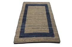 Dwustronny płasko tkany dywan kilim brązowo niebieski dywan Hindi 170x24cm