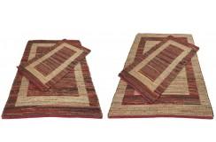 Dwustronny płasko tkany dywan kilim czerwony dywan Hindi 90x160cm