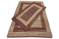 Dwustronny płasko tkany dywan kilim czerwony dywan Hindi 170x240cm