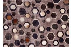 Wiskoza i skóra bydlęca gruby dywan nowoczesny z Indii piękny kolorowy design 170x240cm