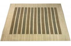 Beżowo szary ekskluzywny dywan Gabbeh Loribaft Indie 140x200cm 100% wełniany