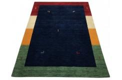 Kolorowy ekskluzywny dywan Gabbeh Loribaft Indie 140x200cm 100% wełniany