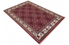 Wełniany ręcznie tkany dywan Herati z Indii 120x180cm orientalny czerwony