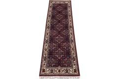 Wełniany ręcznie tkany dywan Herati z Indii 80x400cm orientalny czerwony chodnik