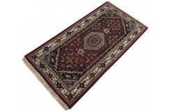 Wełniany ręcznie tkany dywan Bidjar Herati z Indii 120x180cm orientalny czerwony