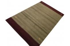 Brązowy delikatnie zdobiony dywan gabbeh 200x300cm wełna argentyńska piękny wzór