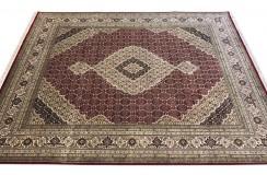 Ręcznie tkany dywan Tebriz Mahi 100% wełna 170x240cm Indie piękny perski wzór klasyczny