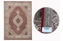 Ręcznie tkany dywan Tebriz Mahi 100% wełna 190x290cm Indie piękny perski wzór klasyczny
