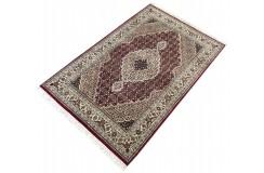 Ręcznie tkany dywan Tebriz Mahi 100% wełna 120x180cm Indie piękny perski wzór klasyczny