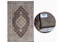 Ręcznie tkany dywan Tebriz Mahi 100% wełna 125x195cm Indie piękny perski wzór klasyczny czarny