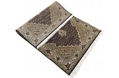 Ręcznie tkany dywan Tebriz Mahi 100% wełna 90x160cm Indie piękny perski wzór klasyczny czarny