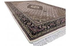 Ręcznie tkany dywan Tebriz Mahi 100% wełna 120x180cm Indie piękny perski wzór klasyczny beżowy