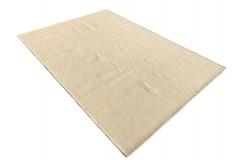 Beżowy kilim Durry 100% wełniany dywan płasko tkany 160x230cm dwustronny Indie