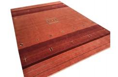 Ekskluzywny dywan Gabbeh Loribaft Indie 200x300cm 100% wełniany odcienie czerwieni