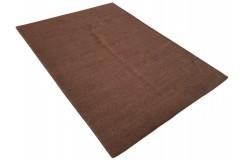 Brązowy kilim Durry 100% wełniany dywan płasko tkany 190x290cm dwustronny Indie