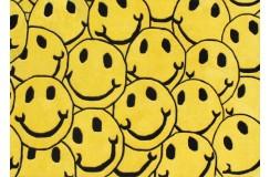 Żółty wesoły designerski nowoczesny dywan wełniany SMILE 160x230cm Indie 2cm gruby