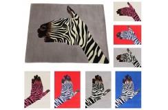 Designerski nowoczesny dywan wełniany ZEBRA 200x300cm Indie 2cm gruby szary