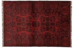 Dywan Afganistan Khal Mohammadi Turkmeński geometryczny Tekke oryginalny 100% wełniany najwyższa jakość 82x118cm