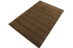 Gładki 100% wełniany dywan Gabbeh Handloom brązowy 200x300cm bez wzorów