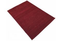 Gładki 100% wełniany dywan Gabbeh Handloom czerwony 200x300cm bez wzorów
