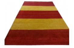 Salonowy dywan gabbeh 200x300cm wełna argentyńska w kolorowe pasy